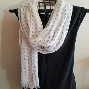 J.Crew nautical anchor scarf